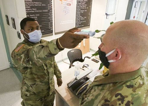 military getting care during covid19
