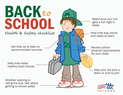 Back to school health and safety checklist