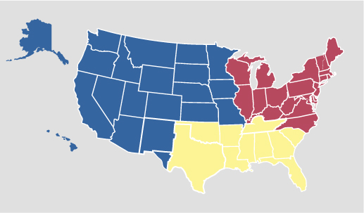 About Us Regions – Map Us Regions